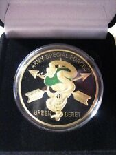 "U S ARMY Special Forces ""Green Berets"" Challenge Coin w/ Presentation Box"
