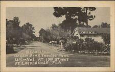 Fort Ft. Lauderdale FL Green Star Trailer Park Postcard