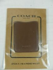 Coach Stick It Phone Wallet Leather Dark Saddle Brown NEW
