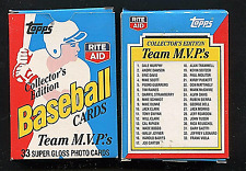 1988 TOPPS RITE-AID TEAM MVP'S COMPLETE FACTORY BASEBALL CARD SET - 33 CARDS