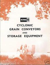 Farm Equipment Brochure - King - Cyclonic Grain Conveyor Storage  c60's (F3089)