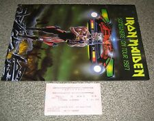 Iron Maiden JAPAN 1987 tour book + TICKET STUB more available CONCERT PROGRAMME
