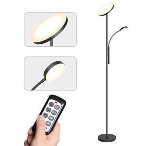 Dimming LED Floor Lamp Tall Standing Light Mother-Daughter Lamp Remote Control
