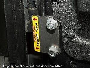 Land Rover Defender Security Bomb Proof Door Hinge Guards - DA1399