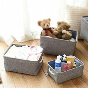 Felt Storage Basket Bin Closet Toy Laundry Shelf Box Organizer Foldable Washing