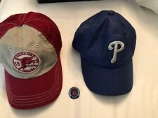 Set of 2 Women's Philadelphia Phillies Hats Blue, Maroon