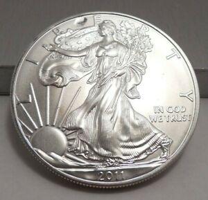 2011 - American Silver Eagle Dollar/$1 - 1 Oz Fine Silver - Struck Thru At Top