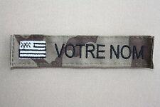 Bande patronymique brodé Bretagne OTAN ou Sable (à l'unité)