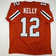 New JIM KELLY Miami Orange College Custom Stitched Football Jersey Size Men's XL