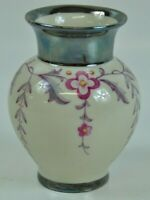 Art Deco Thomas Ivory Silber Overlay US Zone Vase Silber Überzug 5BTH