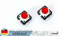 NEU! LED Druckknopf Tactile Button Switch Taster rot für Arduino Raspberry Pi