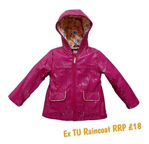 Girls Coat Summer Jacket Spring Lightweight Raincoat Hooded Anorak Showerproof