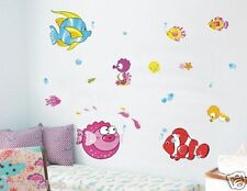Sea World WALL DECAL Room Stickers Living Bedroom Girls Boys Nursery Room Decor