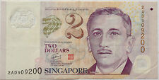 Singapore Polymer Note $2 2AD 909200
