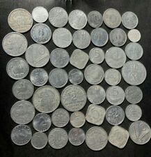 Vintage World Aluminum Coin lot - 47 Mostly Older Coins - Lot #F24