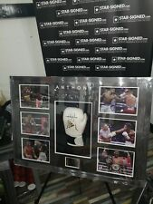 More details for anthony joshua signed boxing glove in impressive branded large box frame coa