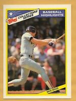 WADE BOGGS 1987 Topps Collector Series Baseball Highlights #10 of 33 ~ Red Sox