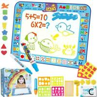100 * 75 cm Water Painting Drawing Mat Large Writing Toy Pen Board Kids O7P3