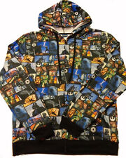 Star Wars Hoodie Jacket Mens Sweatshirt Characters All Over Graphic
