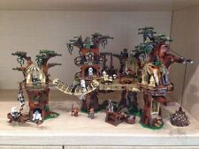CUSTOM Lego Star Wars Ewok Village 1990 Pieces 10236 + Plaque Sticker