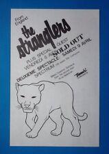 Stranglers The Fall Original Concert Handbill Flyer Montreal 1983