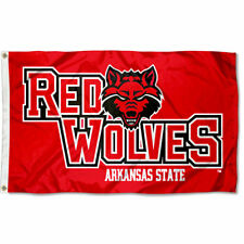 Arkansas State University Red Wolves Flag A State Large 3x5
