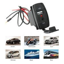 Car Dash Flush Mount USB Port 3.5mm jack Aux Extension Cable Mounting Panel H0S8