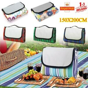 200cm Extra Large Picnic Blanket Waterproof Beach Mat Family Travel Camping Rug