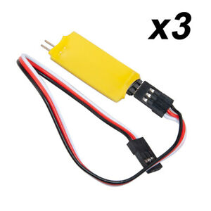 3PCS RC Receiver Single-Channel Controlled Switch Car Lights Remote For RC Model