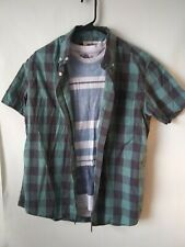 Lot Of Two Men's shirts American rag tee/urban pipeline button short sleeve L