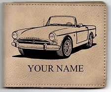 Sunbeam Tiger Rdstr Leather Billfold With Drawing & Your Name On It-Nice Quality