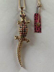 "Betsey Johnson Multicolor 5"" LONG Alligator Crocodile necklace-BJ59393"