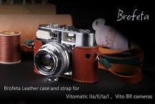 Brofeta leather case/bag and strap for Voigtlander VITOMATIC IIa/VITO BR cameras
