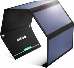 Nekteck Solar Charger 28W-21W Panel with Double USB Port Waterproof SEALED