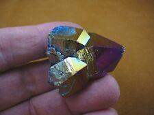 (R1-64) iridescent Aurora Crystal quartz titanium GEM gemstone Aura specimen