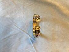 Bracelet fantaisie doré et argenté type esclave style BVLGARI