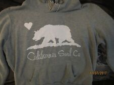 PREOWNED CALI LOVE FLEECE Lined Hoodie SWEAT  GRAY SIZE L CALIFORNIA SURF CO.