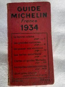 Guide rouge Michelin France 1934