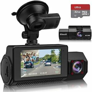 Dashcam Autokamera Vorne Hinten 4K GPS Infrarot Nachtsicht, G-Sensor, Max 256 GB