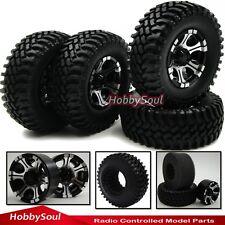 4pcs New RC 1/10 Alloy 1.9'' Beadlock Rims &100mm Crawler Tires For RC4WD Axial