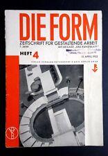 DIE FORM magazine BAUHAUS Modernist Architecture Design RIchard NEUTRA x2 Dexel