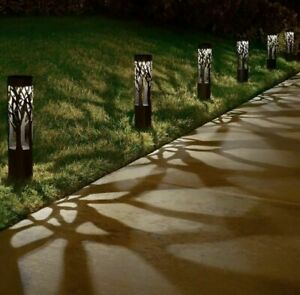 Tommy Bahama Solar Bollard LED Pathway Lights 6 PACK 12 Lumen Metal Construction