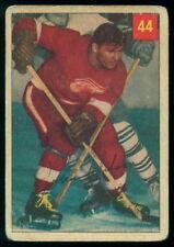 1954 55 PARKHURST HOCKEY #44 JOHNNY WILSON VG DETROIT RED WINGS STAT BACK Card