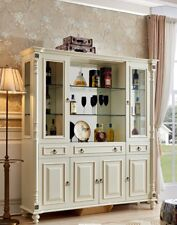 Classical Colonial Style bar Wardrobe Glass Cabinets Founder Time Display Shelf