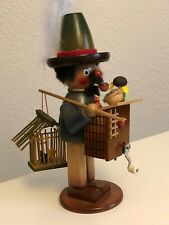 Vintage Steinbach German Folk Art Smoker Incense Burner Hand Crank Music Box