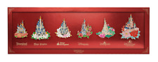Shanghai disney pin jumbo castle spring flower le300 limited edition