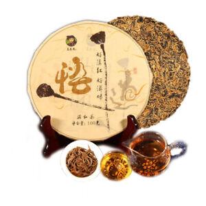 100g Yunnan High Quality Black Tea  Mini Cake  Premium Gold Buds Dianhong Health