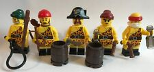 Lego PIRATES - 5 PIRATE minifigures + accessories handcuffs weapon treasure