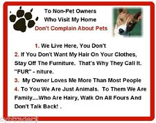 Funny Dog Basenji House Rules Refrigerator / Magnet Gift Card Idea