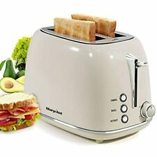 2 Slice Toaster, Compact Bread Toasters With 6 Browning Settings, Free Shipping